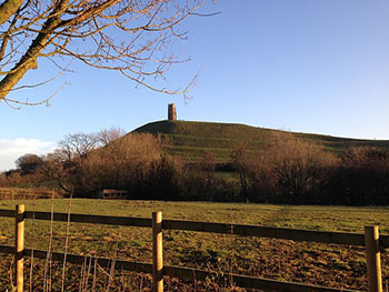 Somerset Glastonbury Tor walking