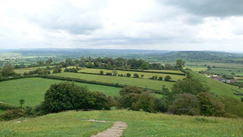 Views over the Somerset levels - walking holidays